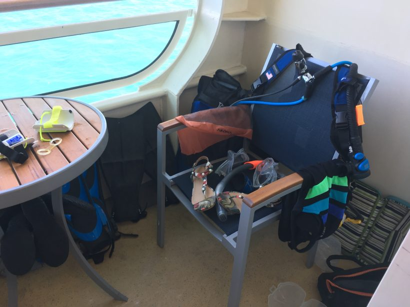 rinsing drying dive gear cruise, Rinsing and Drying Dive Gear While on a Cruise