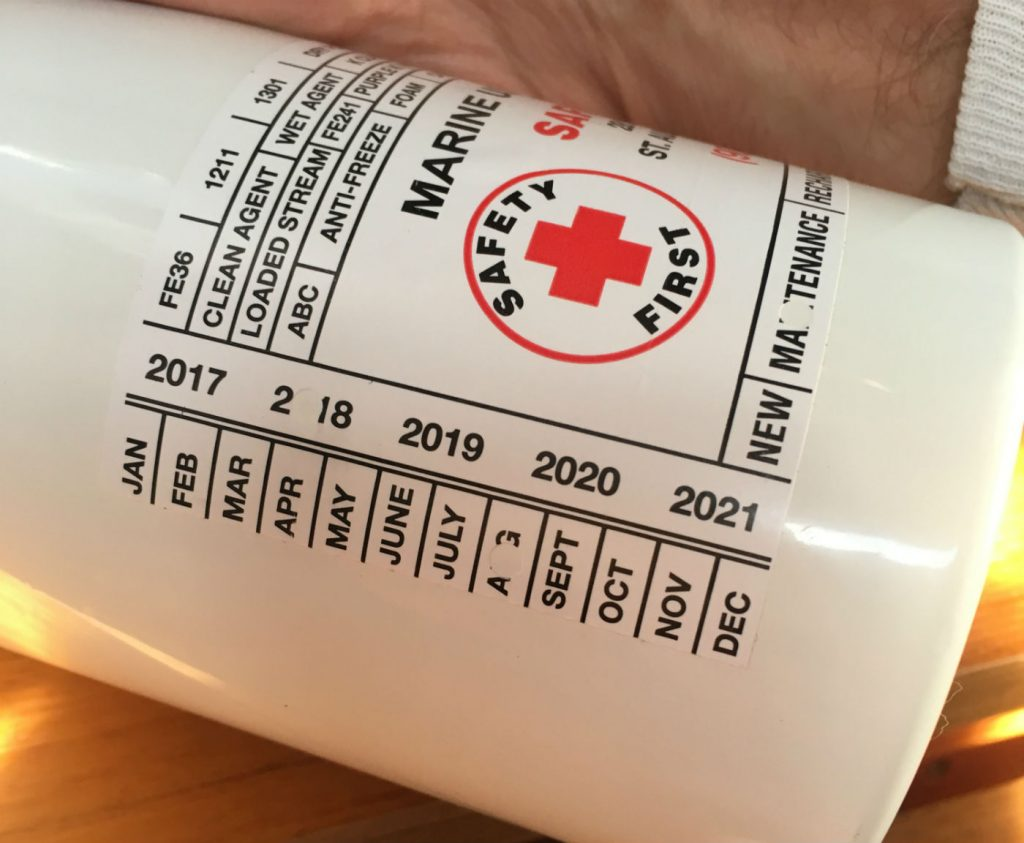 , Fire Extinguisher Requirements Aboard