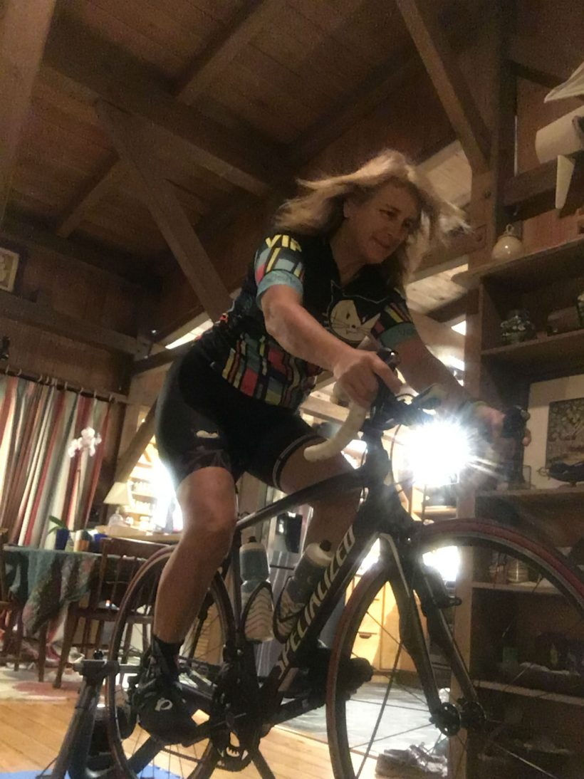 , Rainy Day Workout Ideas – My Morning With the Cycling Trainer and Vanderkitten Kit