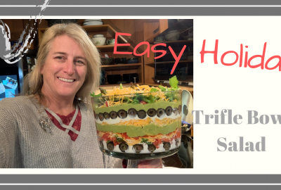 , EASY HOLIDAY TRIFLE BOWL SALAD // Deep Water Happy