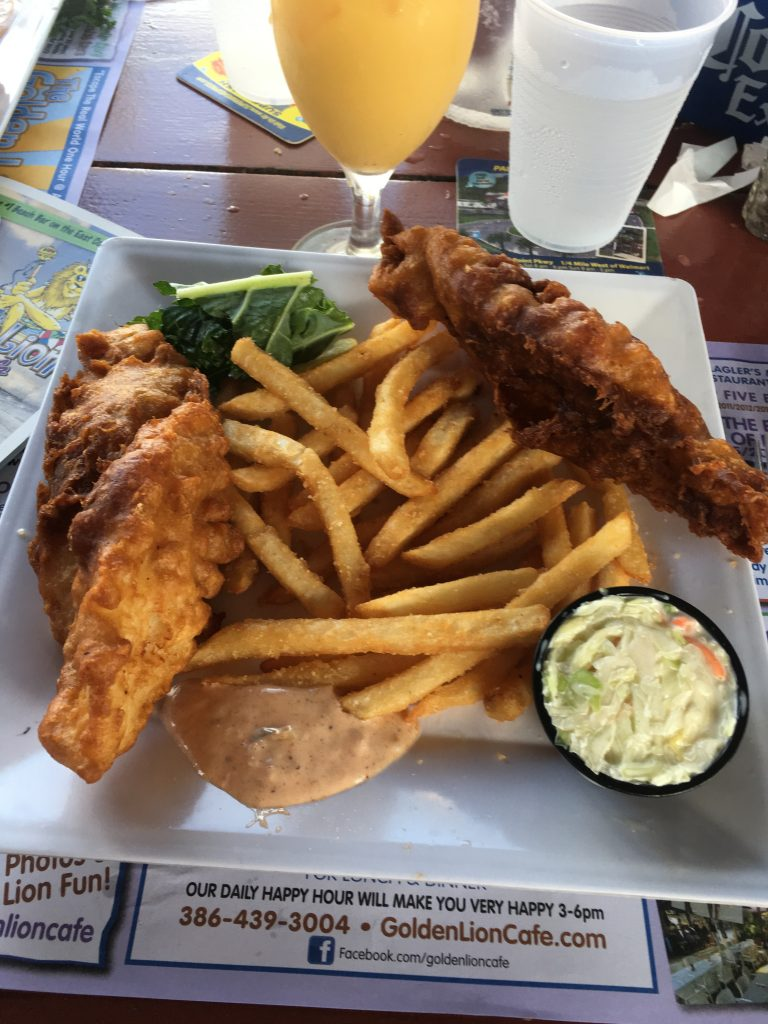 Golden Lion, Eating Your Way Up A1A // Golden Lion Cafe // Flagler Beach Florida