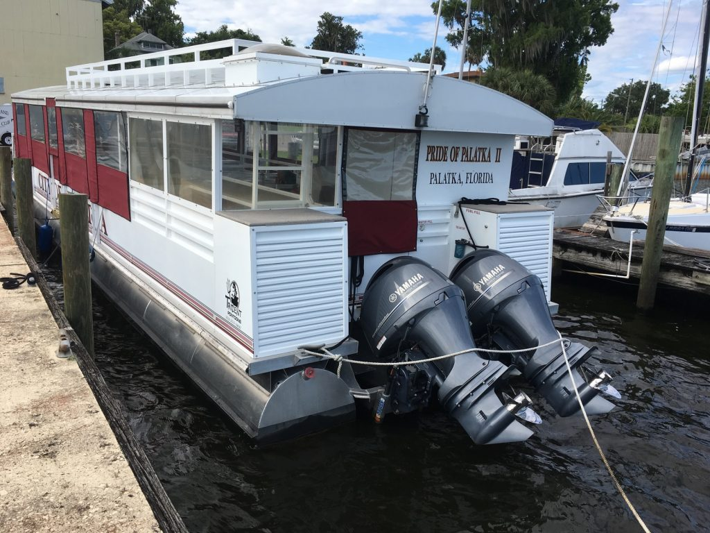 Passenger Pontoon Boat, Pride of Palatka II // 49′ Passenger Pontoon Boat // St. Johns River // City of Palatka