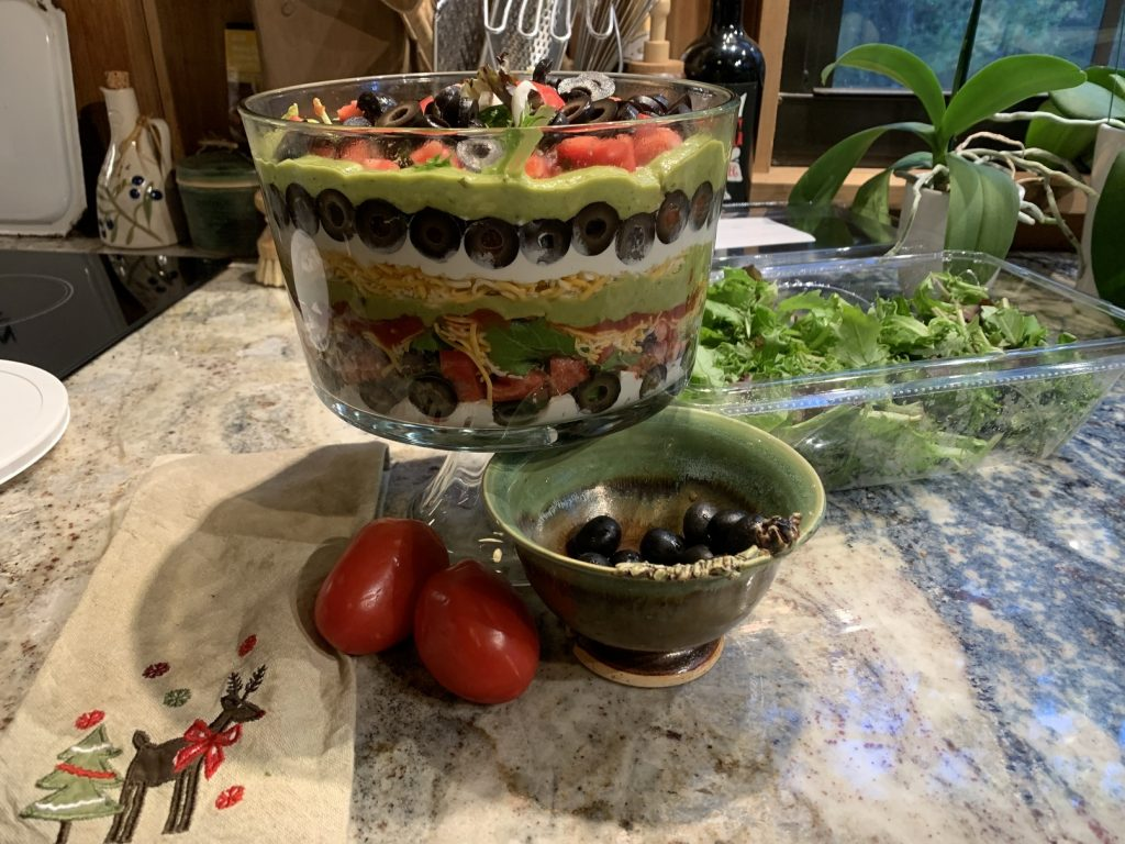 Trifle Bowl Salad, Last Minute Easy Party Food // Trifle Bowl Salad // Elevate Your Table