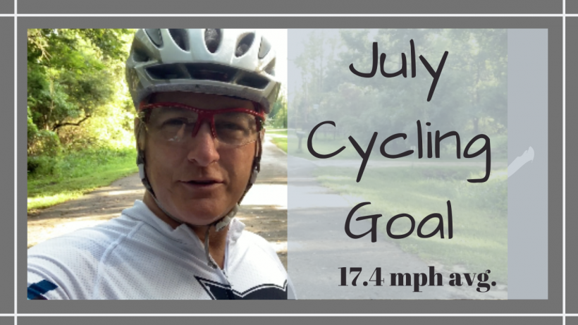 cycling goal, JULY CYCLING GOAL // 17.4 MPH AVG // Deep Water Happy