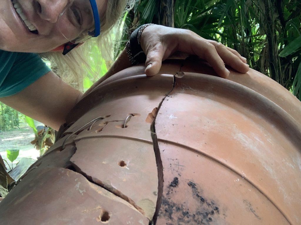 repairing terra cotta pot, How To Repair a Terra Cotta Pot // Reduce, Reuse, Recycle