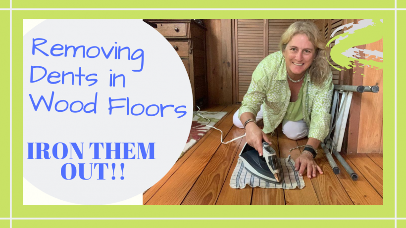 wood floor dents, HOW TO REMOVE DENTS FROM A WOOD FLOOR WITH AN IRON // Deep Water Happy