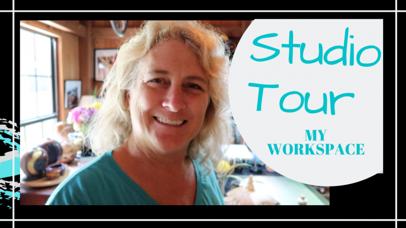 Home Studio Tour, STUDIO TOUR // WORKSPACE AT HOME // Deep Water Happy