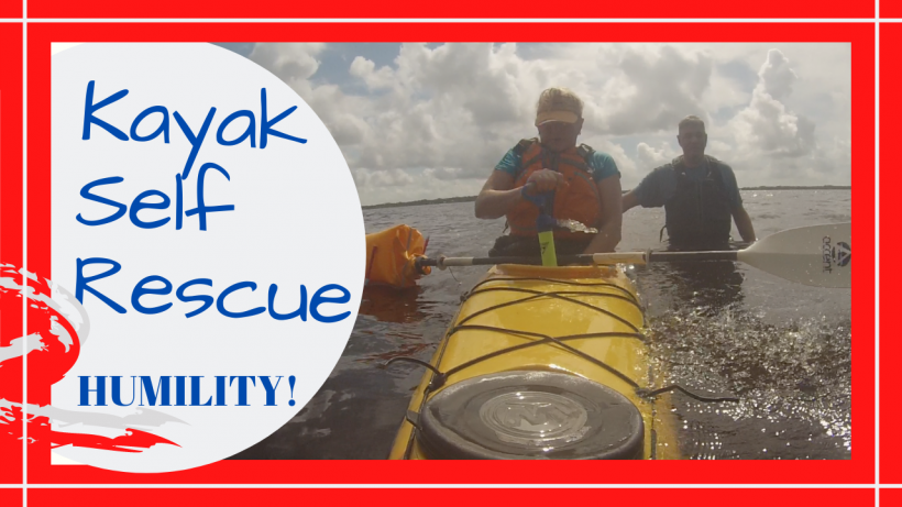 kayak self rescue, YOU SHOULD TRY A KAYAK SELF RESCUE PRACTICE // Deep Water Happy